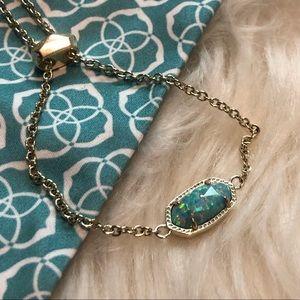 Kendra Scott Elaina Bracelet in Aqua Kyocera Opal